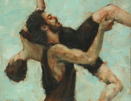Carl Chapple, Beau Dillen and Renan Manhães (Ballet Cymru rehearsal 130)