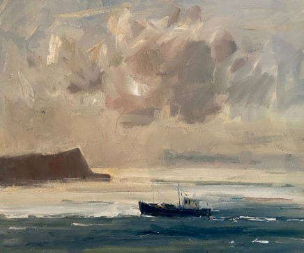 Gareth Parry, Cysgod Cwmwl, Cwch Bysgota, Llyn II / Cloud Shadow, Fishing Boat, Llyn II