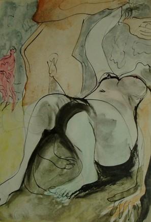 Ceri Richards, Rape of the Sabines, c1947