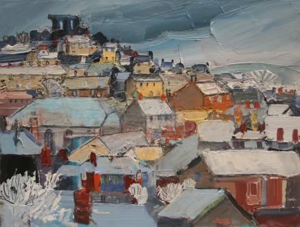 Sarah Carvell, Dinbych yn yr Eira / Denbigh in Snow