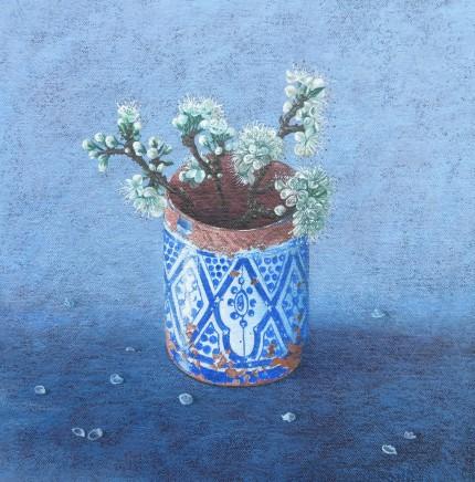 Kim Dewsbury, Moroccan Pot with Blackthorn