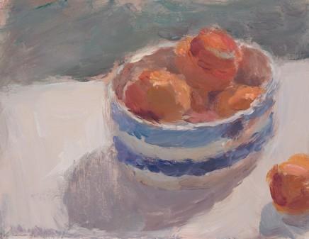 Lynne Cartlidge, Apricots in a Cornish Bowl