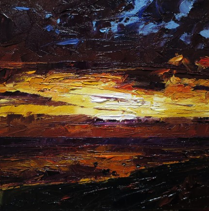 David Grosvenor, Sunset, Criccieth West Beach I