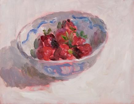 Lynne Cartlidge, Strawberries in a Chinese Bowl III