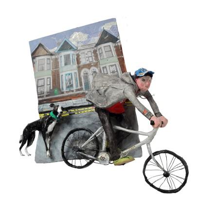 Luned Rhys Parri, Iolo a Bobi'r Milgi, Caerdydd / Iolo and Bobi the Lurcher, Cardiff