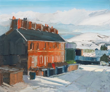 Sarah Carvell, Snowy Day on Grove Road