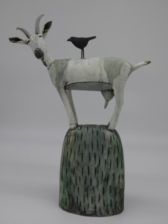 Anna Noel, White Goat with a Crow