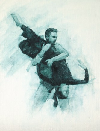 Carl Chapple, Robbie Moorcroft and Mara Galeazzi (Ballet Cymru Rehearsal 99)