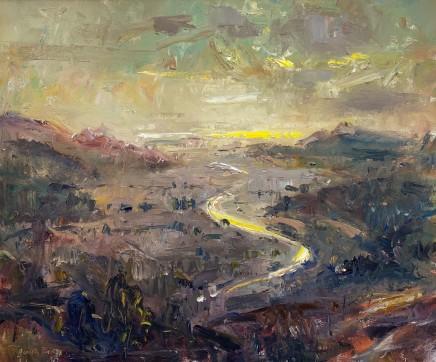 Gareth Parry, O'r Mynydd i'r Môr, Machlud, Dyffryn Maentwrog II / From the Hills to the Sea, Sunset, Vale of Ffestiniog II
