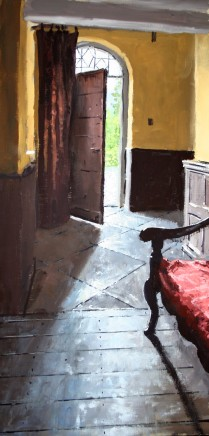 Matthew Wood, Gwydir Castle - Doorway from the Hall of Justice with Bench
