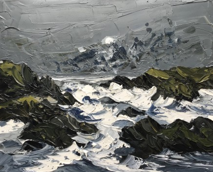Martin Llewellyn, Moon above Crashing Waves