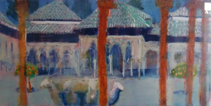Anne Aspinall, Alhambra, The Lion Courtyard