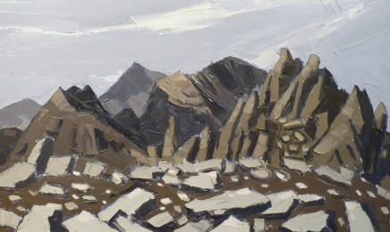 Kyffin Williams, View from Glyder Fach, looking back at Snowdon and Crib Goch, c1990s
