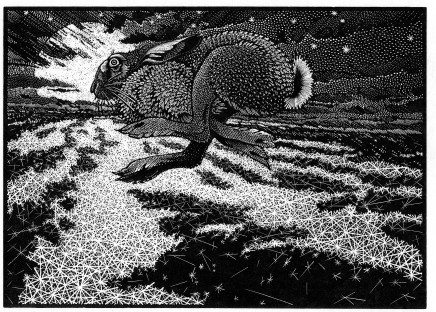 Colin See-Paynton, Nocturnal Encounters - Hare and Moonshadows £350