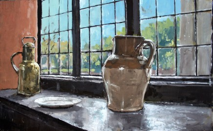 Matthew Wood, Morning Light on a Windowsill on the North Staircase