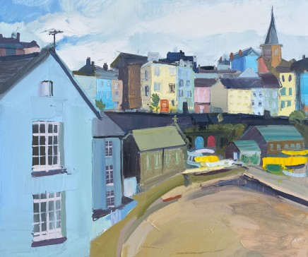 Sarah Carvell, Cloud Cover, Tenby Harbour