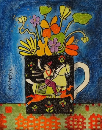 Susan Gathercole, Quicksilver Rider and Garden Flowers