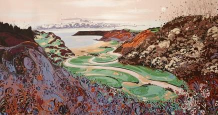 Katie Allen, Three Cliffs Bay from Pennard - Winter
