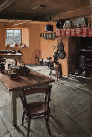 Matthew Wood, Kitchen with Table and Chair