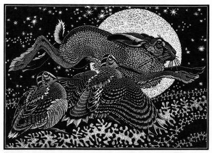 Colin See-Paynton, Nocturnal Encounters - Hare and Woodcocks £350