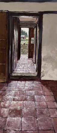 Matthew Wood, Rodd House - Corridor from the Kitchen