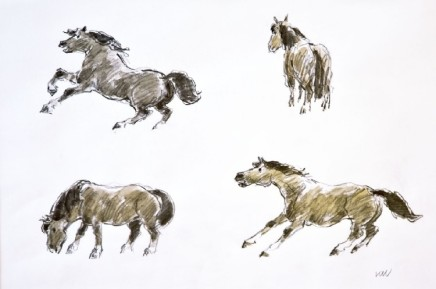 Kyffin Williams, Study of Ponies