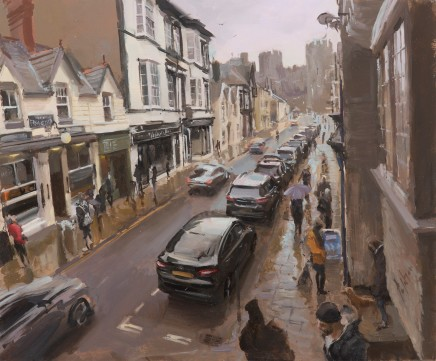 Rob Pointon, Castle Street from the steps of Aberconwy House, Conwy