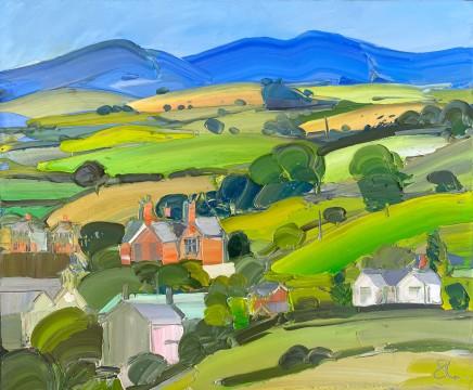 Sarah Carvell, View of Llannefydd from Ochr y Gaer