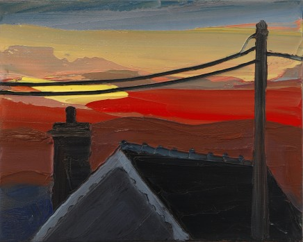 Sarah Carvell, Telegraph Wires, Sunset
