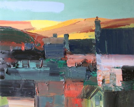 Sarah Carvell, Shadowed House and Sun on the Clwydians