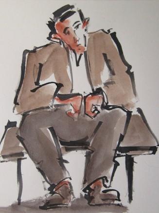 Mike Jones, Seated Farmer, Pentwyn