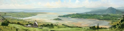 Matthew Wood, Tremadoc Bay from Llandecwyn with St. Tecwyn's Church