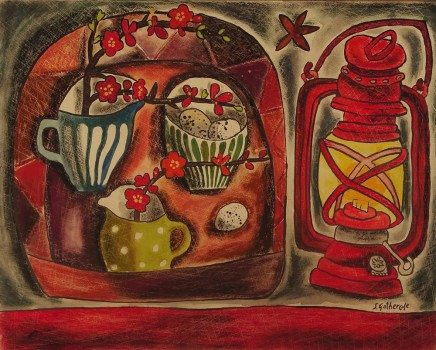 Susan Gathercole, Still Life with Storm Lamp