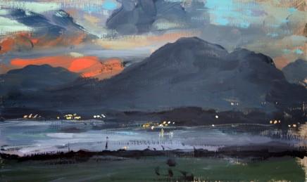Matthew Wood, Porthmadog, Dusk, from near Harlech