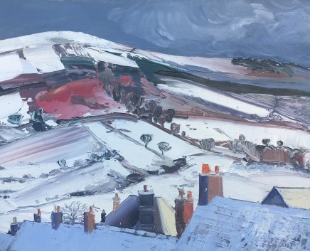 Sarah Carvell, Snow on the Hills, Frosty Roofs