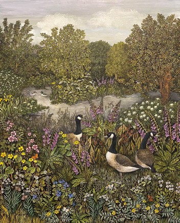 Barbara Winrow, Silver Weed and Canada Geese