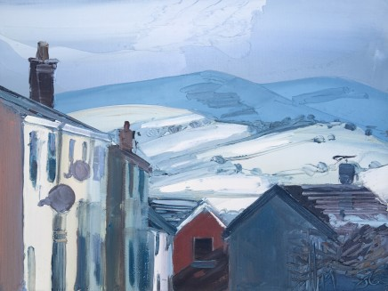 Sarah Carvell, Snow on the Hills above Colomendy