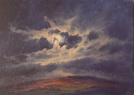 Gerald Dewsbury, Moon with Scudding Cloud