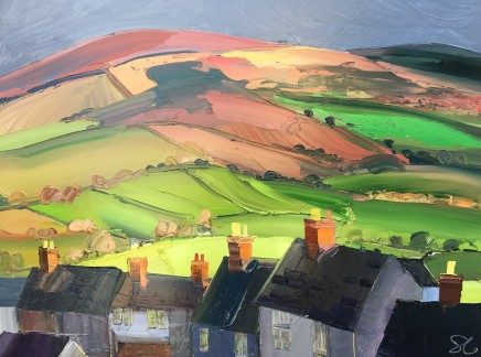 Sarah Carvell, Rooftops and Brightening Landscape