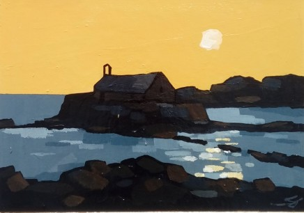 Stephen John Owen, Hazy Evening, Porth Cwyfan