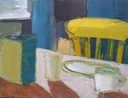 Sarah Carvell, Breakfast Table, Yellow Chair