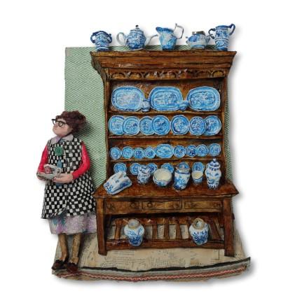 Luned Rhys Parri, Dresel a'i Llestri Glas / Dresser and Blue China