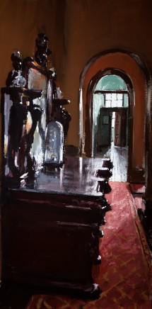 Matthew Wood, Corridor with Sideboard