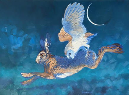 Colin See-Paynton, Nocturnal Encounter I - Owl and Hare