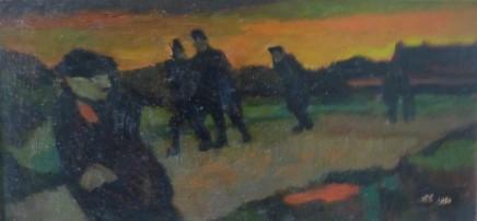 John Elwyn, Miners going Home, 1950