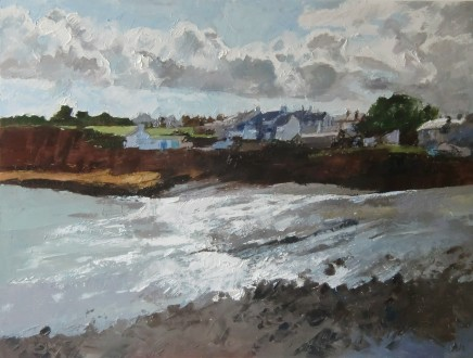 Anne Aspinall, Moelfre, Sunshine and Storm Clouds