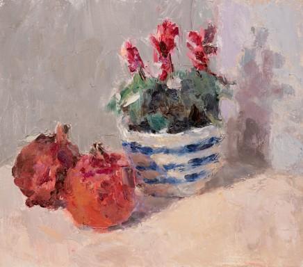 Lynne Cartlidge, Cyclamen and Pomegranates