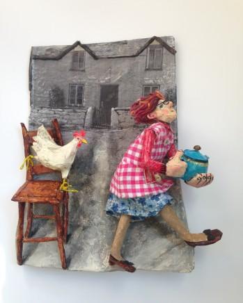 Luned Rhys Parri, Ffermdy Cymreig a Thebot Glas / Welsh Farmhouse & Blue Teapot