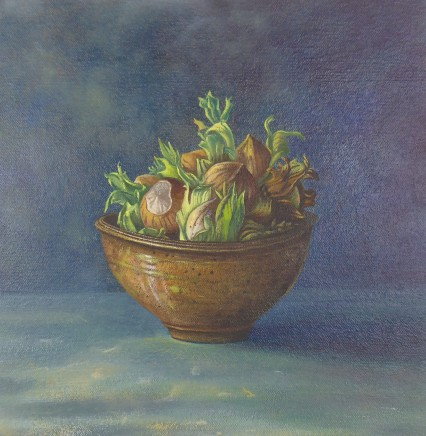 Kim Dewsbury, Hazelnuts in a Brown Pot