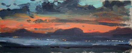 Matthew Wood, Criccieth and the Lleyn, Dusk, from near Harlech